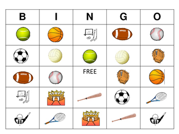 ESL Sports Bingo – Sports Vocabulary in English