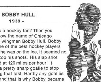 Sports Biography Bobby Hull w/ 4 Multiple Choice Qs Reading Comprehension Skills