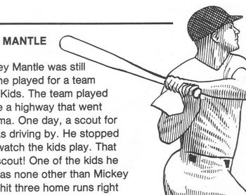Sports Biography MICKEY MANTLE 4 Multiple Choice Qs Readin