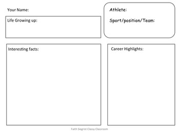 Sports Biography QR Code Research Reports