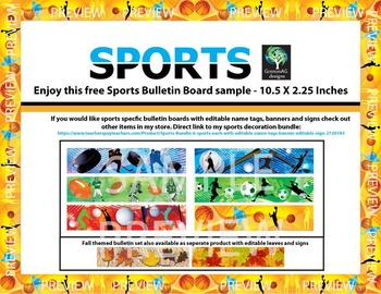 Sports Bulletin Board Border - Free Sample