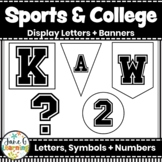 Sports Bulletin Board Letters & Banners   College Letters   Sports Black & White
