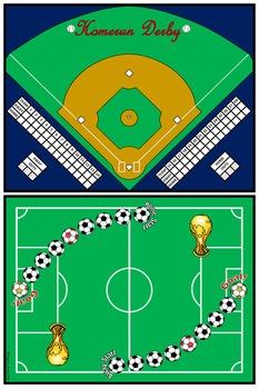 "Sports Bundle (Add & Subtract ""Unlike"" Fractions)"