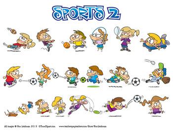 Sports Bundle Cartoon Clipart