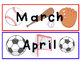 Sports Calendar Inserts (Days and Months)