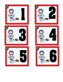 Sports Calendar Number Cards