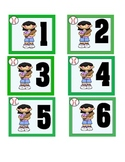 Sports Calendar Number Cards(Green)
