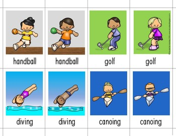 P.E. {Illustrated Word Cards}