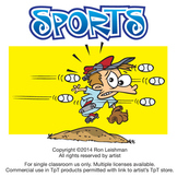 Sports Cartoon Clipart Vol. 1