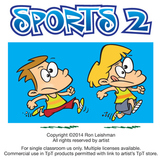 Sports 2  Cartoon Clipart for ALL grades