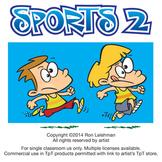 Sports 2  Cartoon Clipart for ALL grades