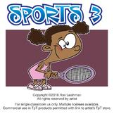 Sports Cartoon Clipart Vol. 3