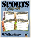 Sports Certificates 2