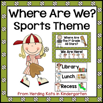 Sports Classroom Decor: Where Are We? Door Signs