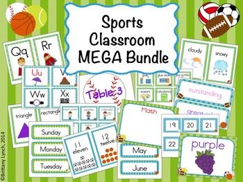 Sports Theme Classroom Decor (editable)