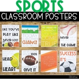 Sports Classroom Posters - 5 Minute Bulletin Board!