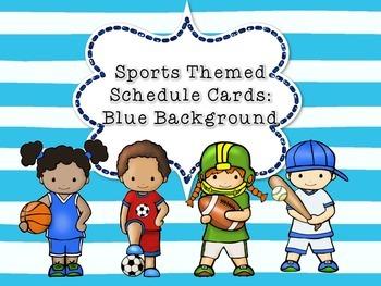 Sports Class Schedule Cards
