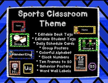 Sports Classroom Theme