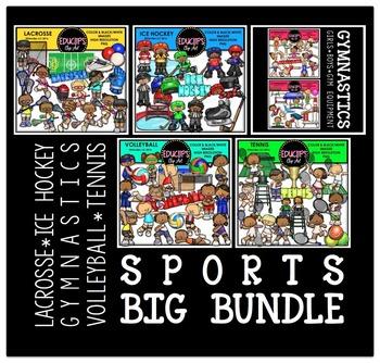 Sports Clip Art Big Bundle {Educlips Clipart}