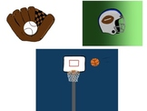 Sports Clip Art (basketball, baseball, and football)