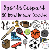 Sports Clipart I Hand Drawn Doodles