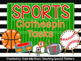Sports Clothespin Tasks