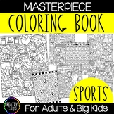 Sports Coloring Pages: Masterpieces {Made by Creative Clips}