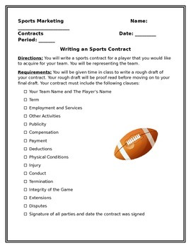 Sports Contract Assignment