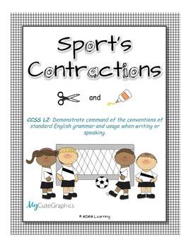 Sport's Contractions (Apostrophe) Cut & Paste
