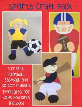 sports craft pack by kendra s kindergarten teachers pay teachers