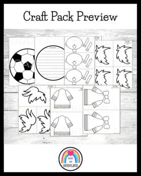 Sports Craft and Writing Pack: Baseball, Football, Soccer, Basketball