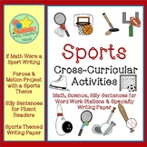 Sports Math Writing, Science, Word Work and Writing Paper