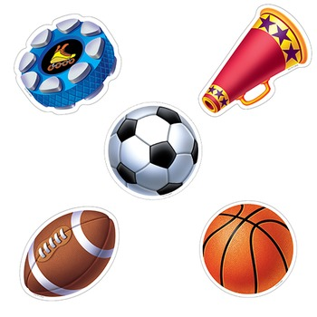 Sports Cut Outs - Baseball Football Soccer Hockey Cheer Basketball