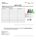 Sports Data- Box and Whisker Plot activity