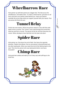 Sports Day Games for Elementary