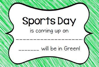 Sports Day Notes and Poster