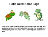 Desk Name Plates -- Turtles