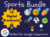 Sports Digital Breakout MEGA Bundle (Distance Learning, Go