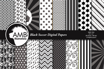 Sports Digital Paper, Soccer Papers and Backgrounds AMB-1964