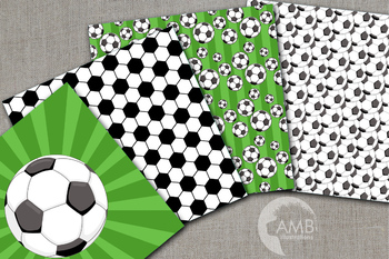 Sports Digital Paper, Soccer Papers and Backgrounds, AMB-1969