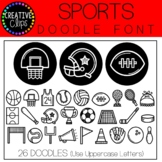 Sports Doodle FONT {Creative Clips Clipart}