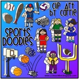 Sports Doodles (BW and full-color PNG files)