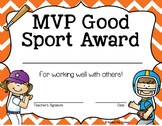 Sports End of the Year Award Certificates