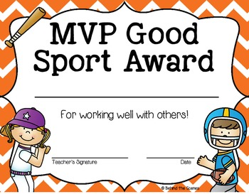 sports end of the year award certificates tpt