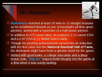 Sports & Entertainment - Christy Mathewson