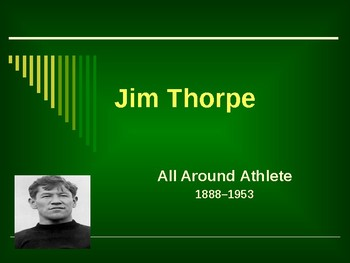 Sports & Entertainment - Jim Thorpe