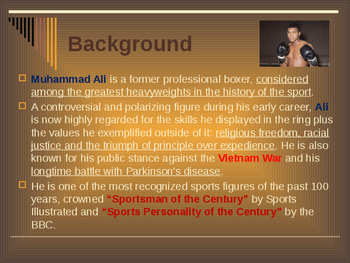 Sports & Entertainment - Muhammad Ali