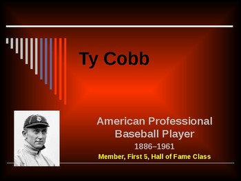 Sports & Entertainment - Ty Cobb