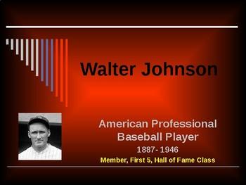 Sports & Entertainment - Walter Johnson