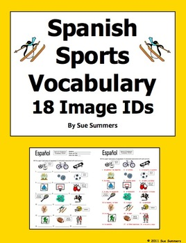 Spanish Sports and Equipment 18 Vocabulary IDs Worksheet